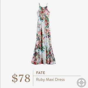 Fate Ruby Maxi Dress NWT